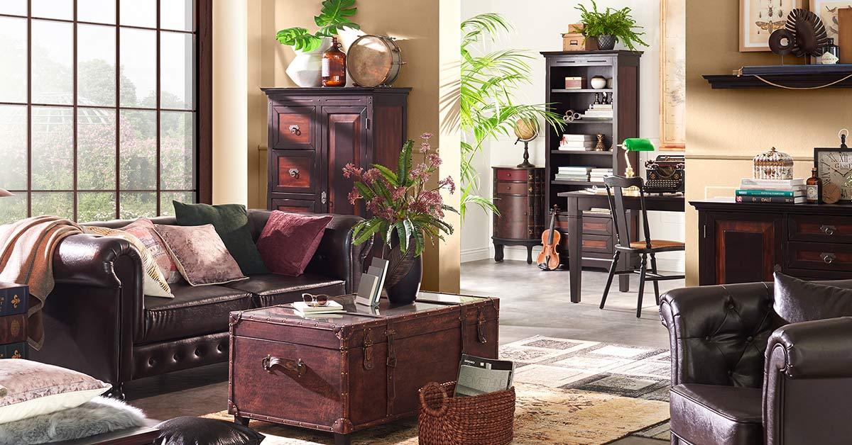 wohnidee colonialstil m bel h ffner. Black Bedroom Furniture Sets. Home Design Ideas