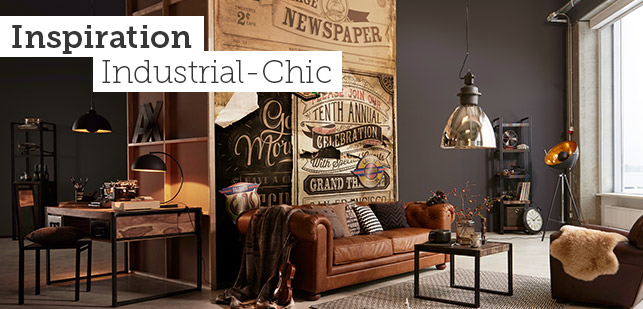 beautiful industrial look wohnzimmer pictures - home design ideas ... - Industrial Chic Wohnzimmer