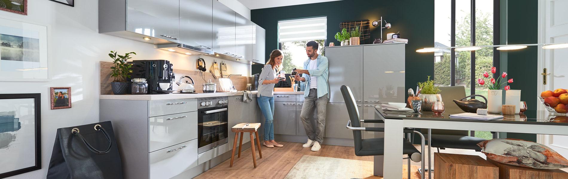 k chenzeile g nstig kaufen riesige auswahl gibt es bei m bel h ffner. Black Bedroom Furniture Sets. Home Design Ideas