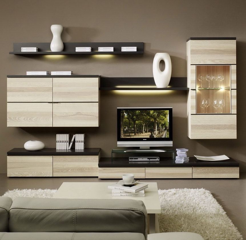 gwinner wohnzimmerm bel in hochglanz und holz bei m bel. Black Bedroom Furniture Sets. Home Design Ideas