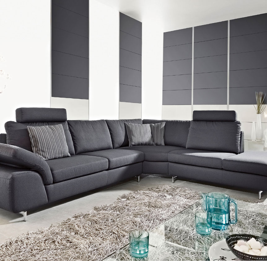 w schillig polsterm bel aus leder aus dem sortiment von. Black Bedroom Furniture Sets. Home Design Ideas