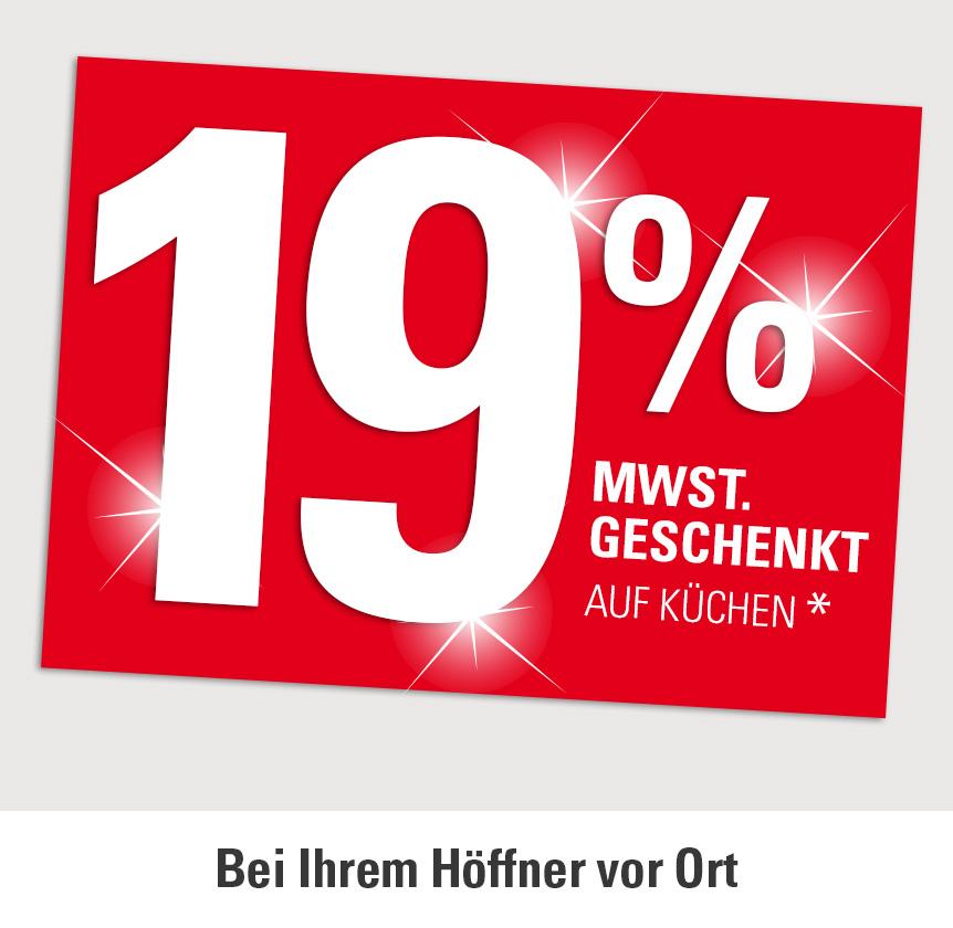 19% Mehrwertsteuer geschenkt