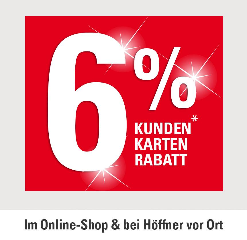 6% Kundenkartenrabatt