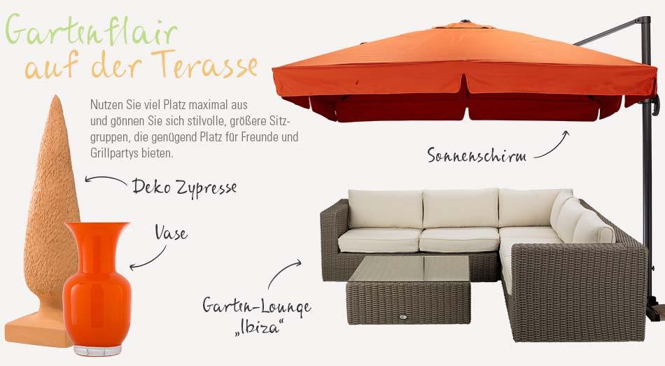 Bequeme Loungemöbel für Balkon und Terrasse von Höffner