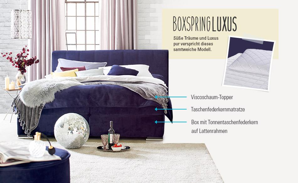 wohnidee smart boxspringbetten m bel h ffner. Black Bedroom Furniture Sets. Home Design Ideas