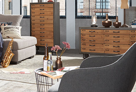 wohnideen industrial m bel h ffner. Black Bedroom Furniture Sets. Home Design Ideas