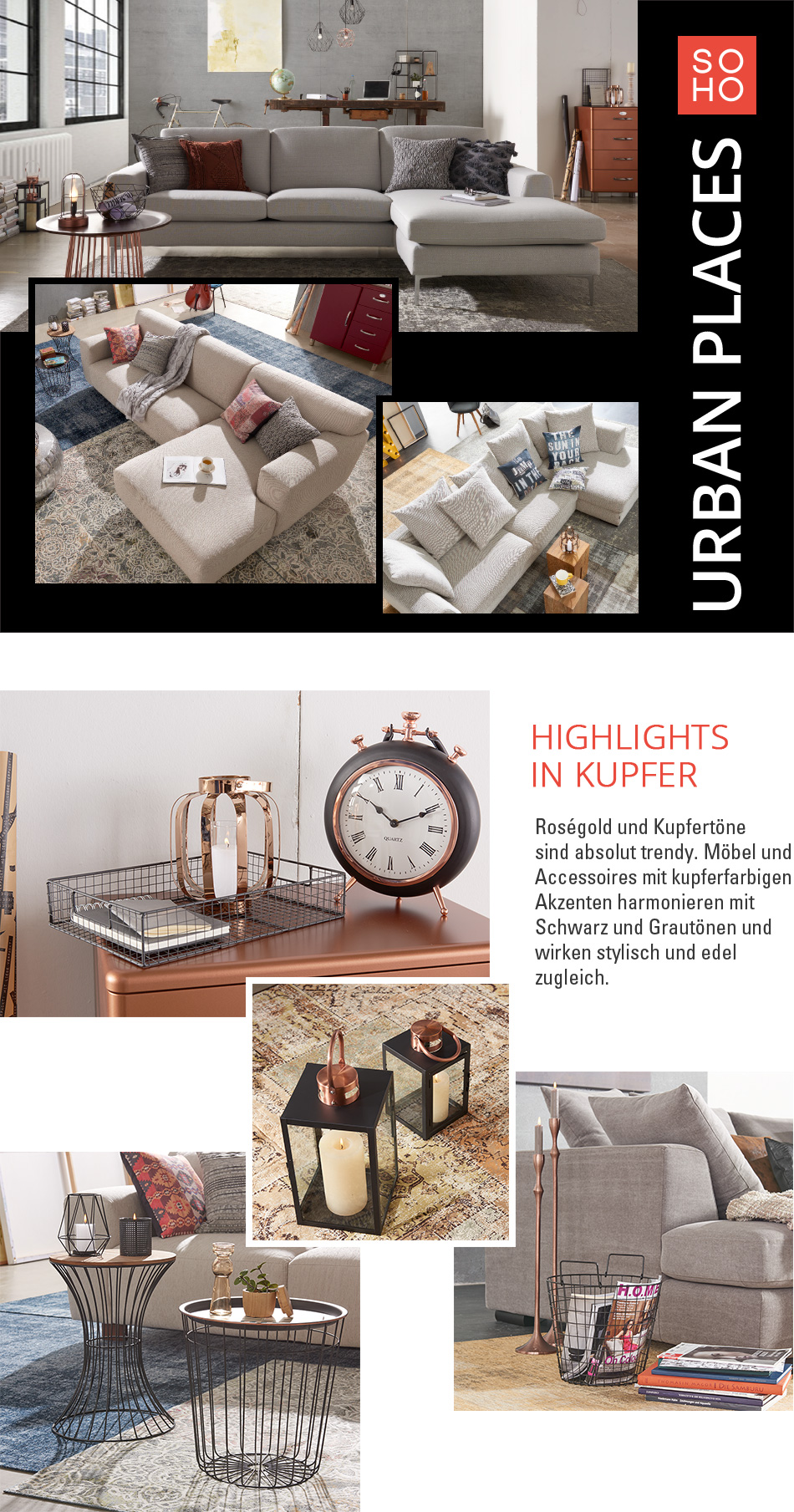 eXpress Katalog - Urban Places mit SOHO | Möbel Höffner