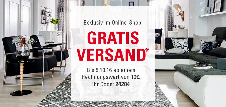Gratis Versand im Online-Shop