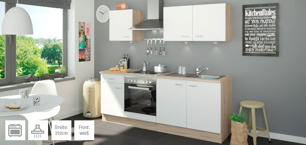 k chenzeilen von uno m bel h ffner. Black Bedroom Furniture Sets. Home Design Ideas