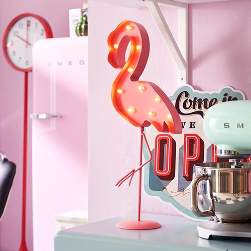 LED Dekoration Flamingo