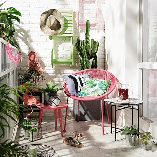 Gartensessel Adria Pink