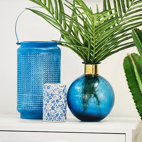 Vase Blau 25 cm hoch