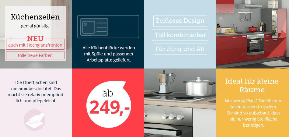 Kuchenzeilen Von Uno Cubo15 Mobel Hoffner