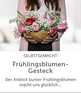 DIY Frühlingsblumen-Gesteck
