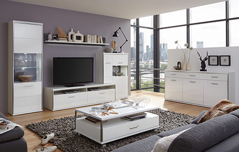 Ideen Wohnzimmer wände gestalten | Möbelhaus Dekoration