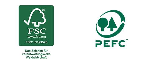 FSC und PEFC-zertifiziert