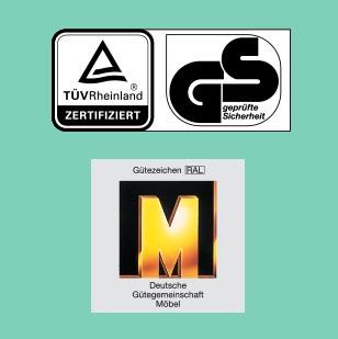 Zertifikate TÜV, GS, Goldenes M