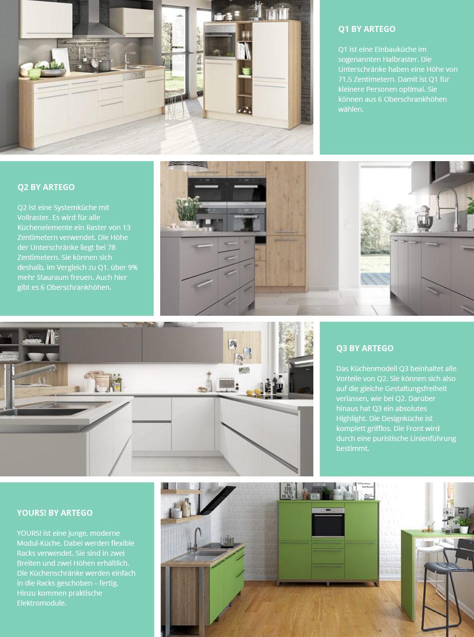 Unglaublich Artego Küchen Galerie Von Vier Küchenmodelle