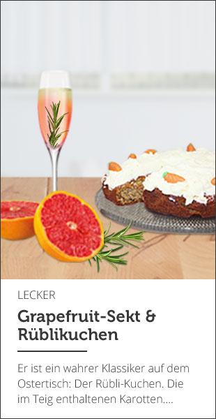 Grapefruit-Sekt & Rübli-Kuchen