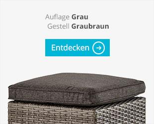 a casa mia Garten-Loungegruppe Bregenz Graubraun