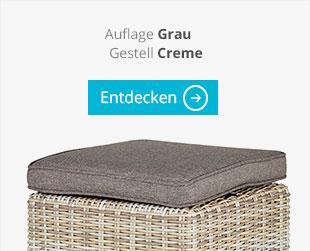 a casa mia Garten-Loungeset Bregenz grau creme