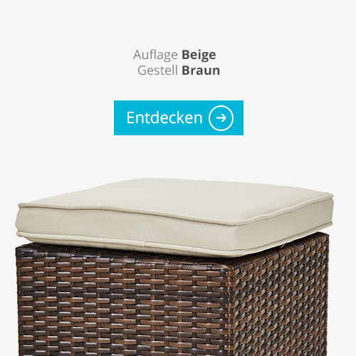 a casa mia Polyrattan-Sitzecke Bregenz Braun Natur