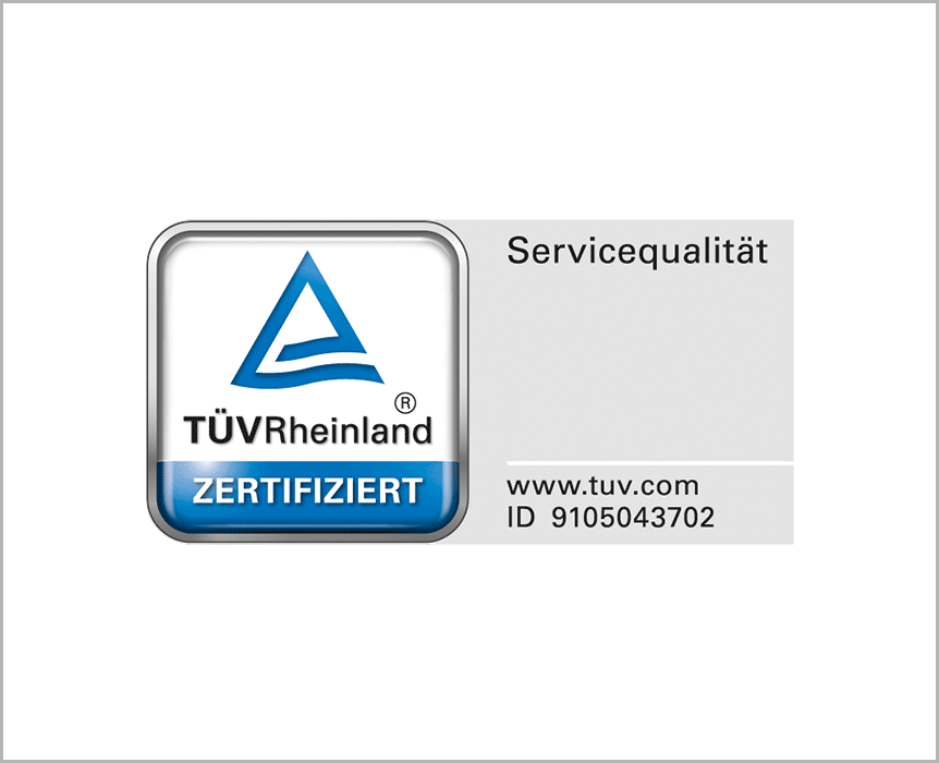 TÜV Zertifizierung - Service Qualität