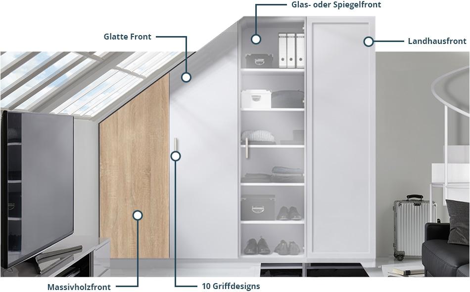 Designs eines Möbelwerke Schrankes