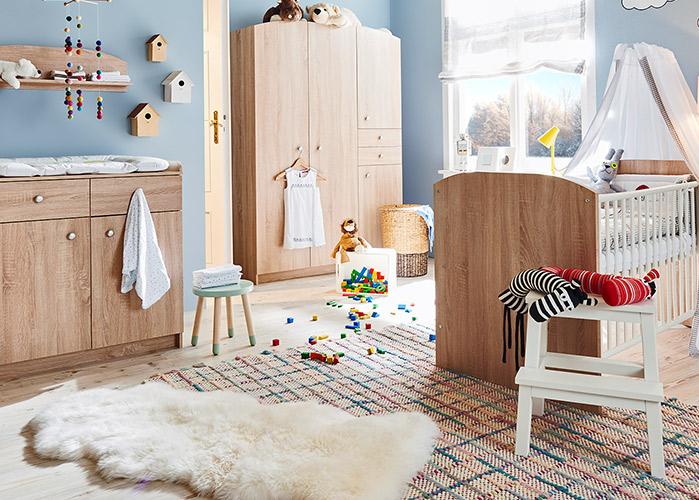 Fabian Natürlicher Holzlook Im Babyzimmer Bei Möbel Höffner