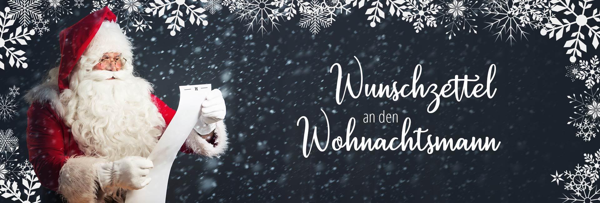 Wunschzettel an den Wohnachtsmann 1