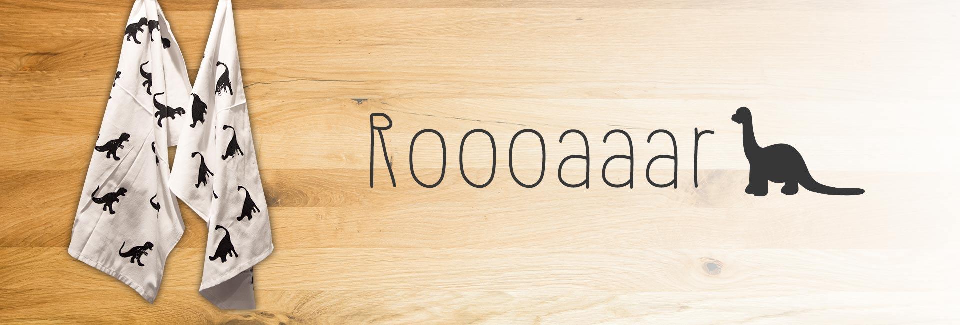 Für mehr Roooaar in der Küche: Geschirrtücher mit Dino-Druck 1