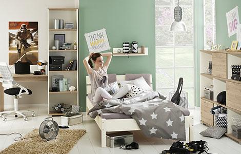 Jugendzimmer mädchen modern weiß grau  Möbel und Ideen zur Einrichtung für das Jugendzimmer - Höffner