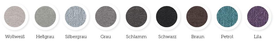 Farbkombinationen für Schlafsofa Anna