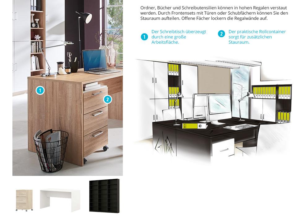 schreibtisch konfigurieren. Black Bedroom Furniture Sets. Home Design Ideas