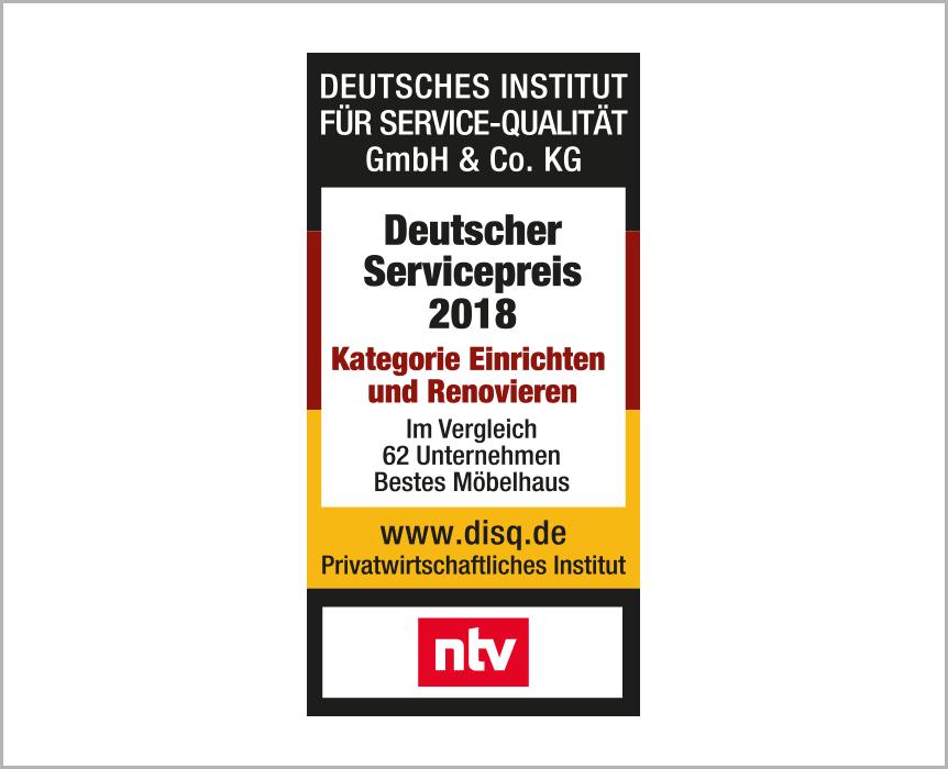 disq, deutscher Servicepreis 2018, Kategorie Einrichten und Renovieren