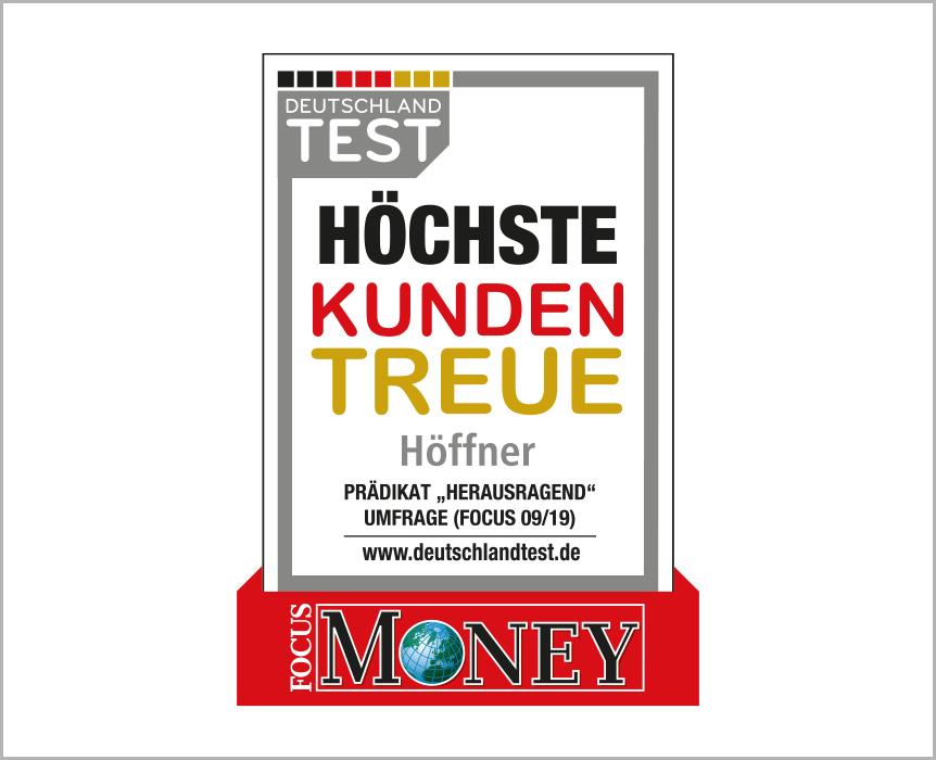 """Deutschlandtest, höchste Kundentreue Prädikat """"herausragend"""", 02/2018"""