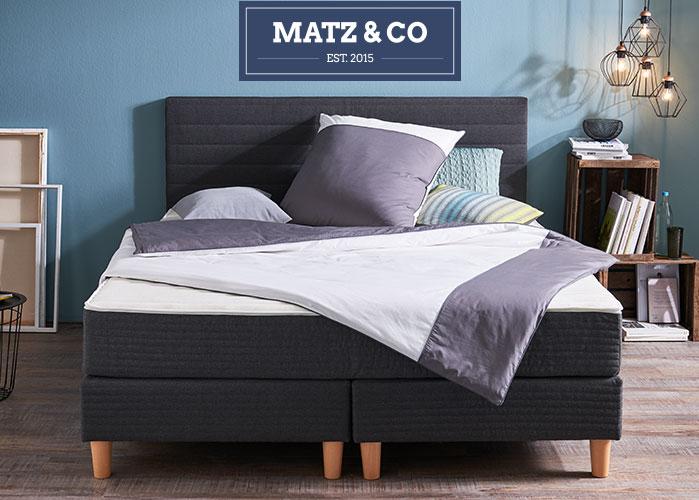 MATZ & CO Boxspringbett mit Matratze