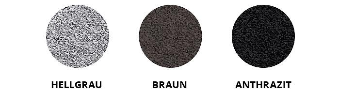 Hellgrau, Braun & Anthrazit