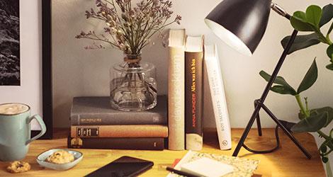 Beleuchtung im Arbeitszimmer