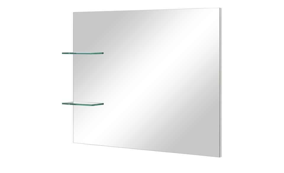 Spiegel mit zwei Glasablagen