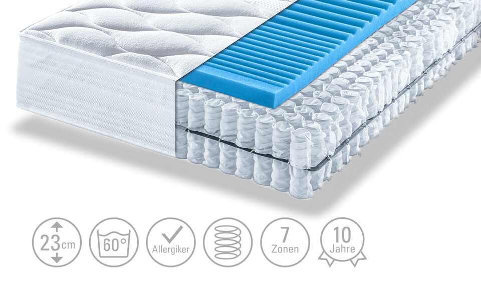 artone tonnentaschenfederkern matratze thermo gel t 80 cm 200 cm