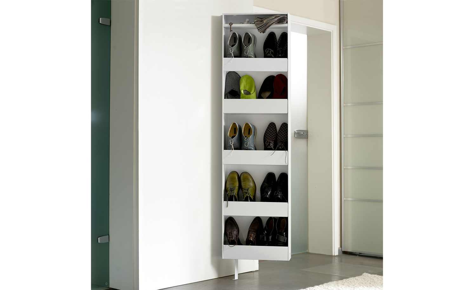 Schuh- und Mehrzweckschrank Pictura | Weiß | RbL4GBVs