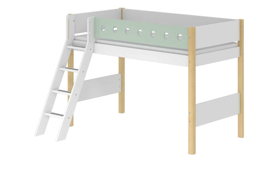 Flexa Mittelhohes Bett 90x200 Weiß Flexa White Birke Weiß