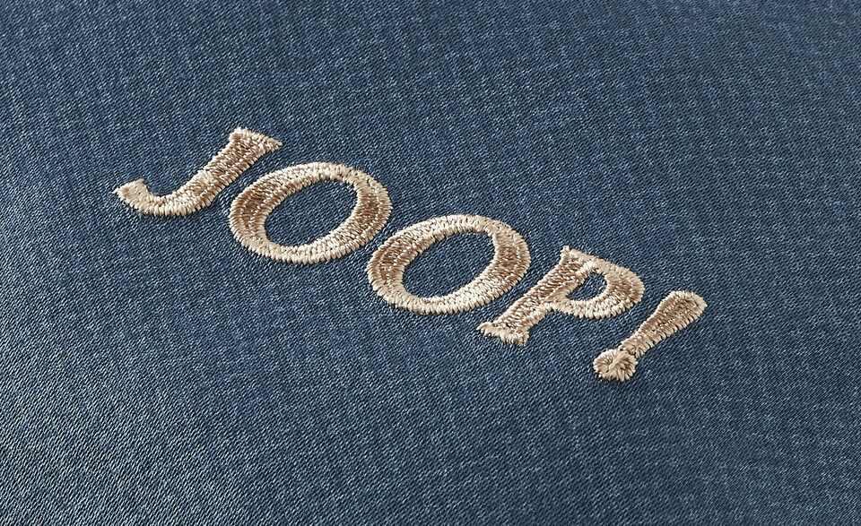 JOOP! Mako-Satin-Bettwäsche JOOP! Rise | Blau / Creme / Grau 135x200 + 1x 80x80 cm mowBNXhr