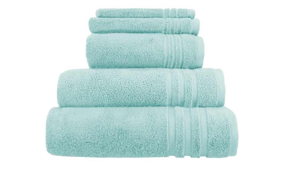 handtuch set t rkis 5 teilig soft cotton h ffner. Black Bedroom Furniture Sets. Home Design Ideas