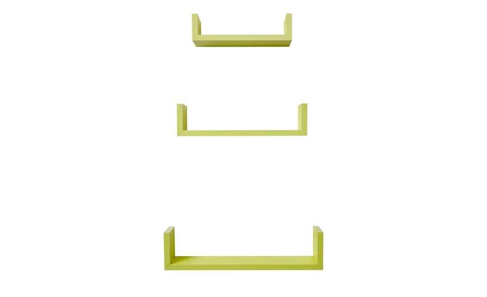 U-Regal 3er Set grün