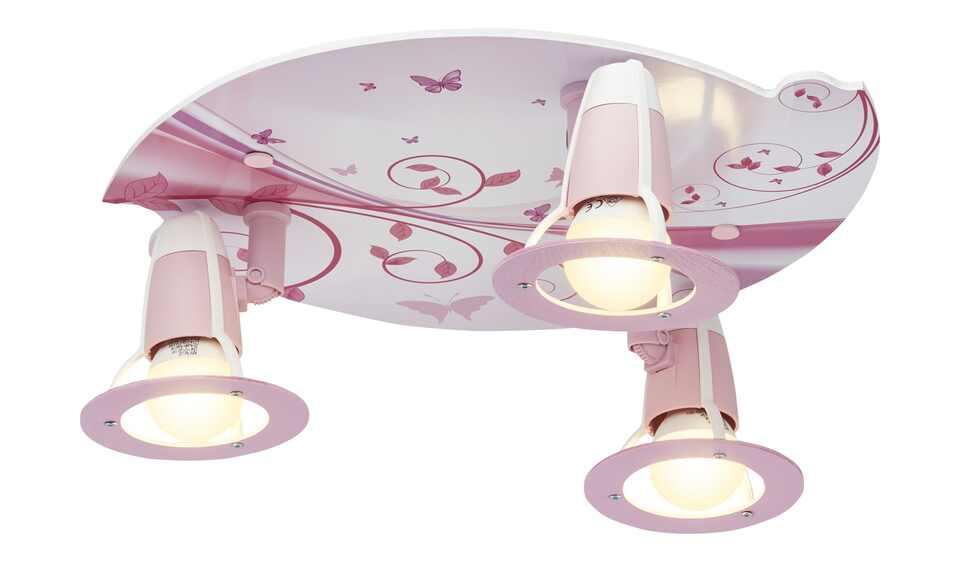 Deckenleuchte 3-flammig rosa   Möbel RBQui4k4