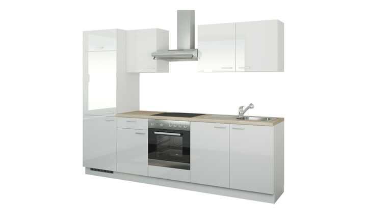 Küchenzeile mit Elektrogeräten Aachen | Weiß, Ausführung links