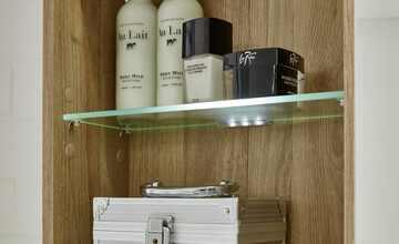 LED-Glasbodenclip's für Hochschrank  Balksee