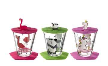 LEONARDO Kinder Trink - Set 9-tlg. Flamingo /Einhorn / Panda  Bambini